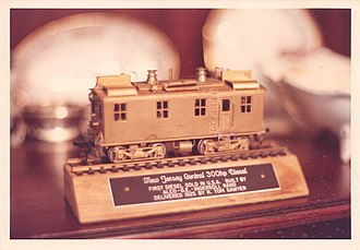R. Tom Sawyer - Award for building and delivering the first Diesel Locomotive sold in the USA - given to R. Tom Sawyer