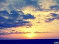 Azerbaijan bulud cloud sun sunset gun gun batimi sema azerbaycan sua.JPG