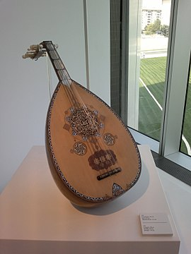 Azerbaijani musical instrument ud in Heydar Aliyev Center.jpg