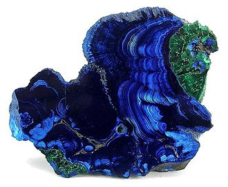 Copper mining in the United States - Spectacular Azurite-Malachite specimen from Bisbee