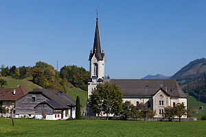 Dilwale Dulhania Le Jayenge - Image: B Montbovon Eglise Saint Grat
