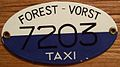 BELGIUM, FOREST-VORST date unknown -PORCELAIN TAXI PLATE - Flickr - woody1778a.jpg