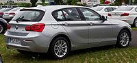 BMW 116i (F20, Facelift) – Heckansicht, 26. Juli 2015, Düsseldorf.jpg