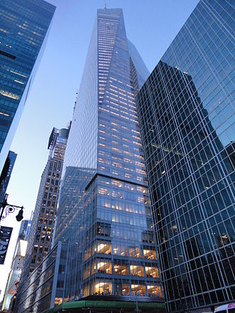 Bank of America - The Bank of America Tower in New York City.