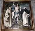 Bachiacca, ss. benedetto, sebastiano e domenico, angeli nella lunetta 02.JPG