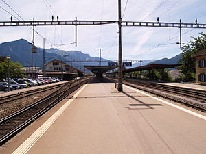 Landquart railway station - Platforms 1, 2, 3 and 4: SBB platforms