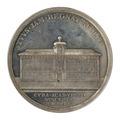 Baksida av medalj med Gustavianum - Skoklosters slott - 99543.tif