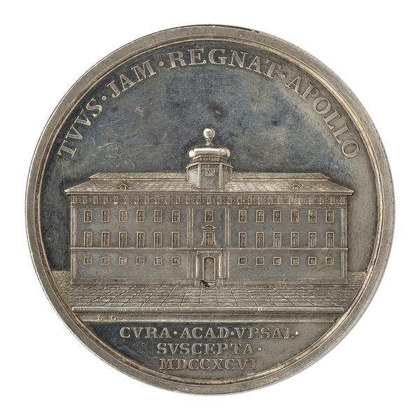 File:Baksida av medalj med Gustavianum - Skoklosters slott - 99543.tif