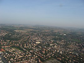 An aerial view of Balma