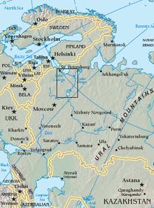VolgaBaltic Waterway Wikipedia - Volga river on world map