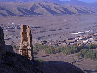 Bamyan - Historical reconstruction work in the valley.