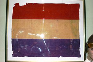 Spanish Republican Army - Spanish Republican military flag used in the Battle of the Ebro. 1938