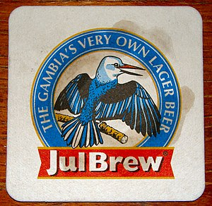 Beer in Africa - A JulBrew coaster