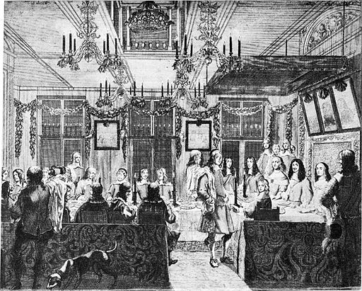 Banquet for Charles II in The Hague 19 February 1660
