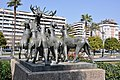 Barcelona (Jaume Vicens Vives gardens, Diagonal Avenue). Deer attacked by dogs. 1966-1967. Frederic Marès, sculptor (27454403281).jpg