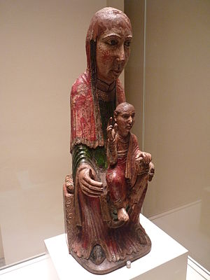 Virgin from Ger - Image: Barcelona MNAC P1290727