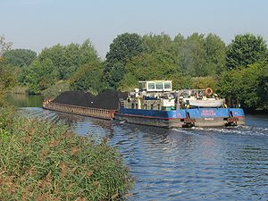 Gliwice Canal - Barge on the Gliwice Canal