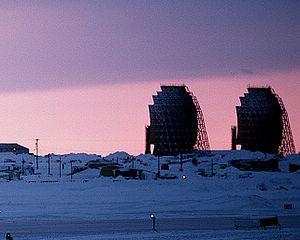 White Alice Communications System - Barter Island, Alaska White Alice tropospheric antennas