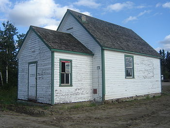 English: Battle Hills One Room School House at...
