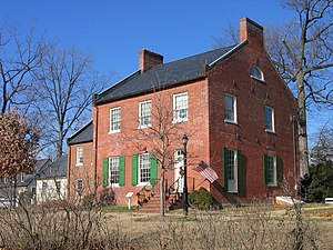 Rockville, Maryland - The Beall-Dawson House, on West Montgomery Avenue near Rockville Town Center in January 2005. Built in 1815, the home was owned by Upton Beall, Clerk of the Montgomery County Court.