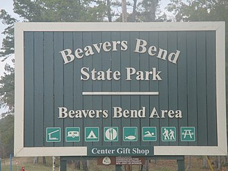 Beavers Bend Resort Park - Image: Beavers Bend State Park, OK sign IMG 8544