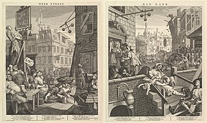 Beer Street and Gin Lane - Beer Street and Gin Lane (1751)