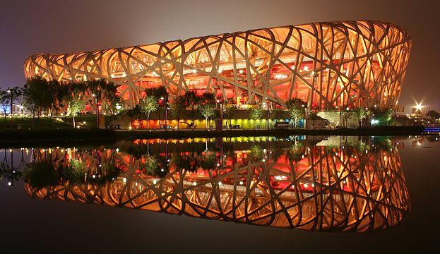 Bird's Nest stadium, Beijing, China.