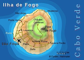 Fogo, Cape Verde - Image: Bela vista net Fogo map