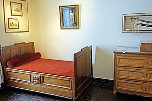 Wellington Museum, Waterloo - Image: Belgium 6675 Death Bed (13967929447)