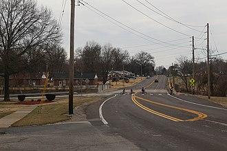 Bellefontaine Neighbors, Missouri - Bellefontaine Road in Bellefontaine Neighbors, Missouri, February 2017