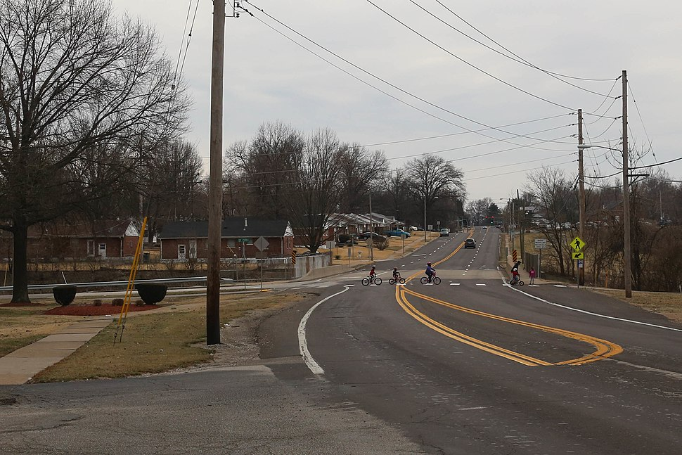 Bellefontaine Road in Bellefontaine Neighbors, Missouri, February 2017