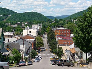 Bellefonte, Pennsylvania - Looking down Allegheny Street from Reservoir Hill