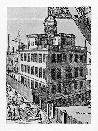 Paul du Ry - Bellevue Palace in 1742, used as an observatory by Johann Gabriel Doppelmayr