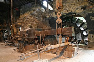 Wortley Top Forge - Belly helve hammer, water-powered forging hammer