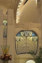 Belmond Grand Hotel Europe Saint Petersburg Dining room stained glass