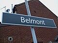 Belmont station signage.JPG