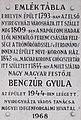 Benczúr Gyula emléktábla, Kossuth tér 8, 2017 Nyíregyháza.jpg