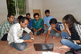 Bengali Wikipedians at Chittagong meetup 2 (09).jpg