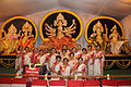 Bengali ladies in traditional wear during Diamond Jubilee Celebrations (60 years) at the Nashik Sarbojanin Durga Puja Festival 2013.JPG