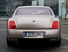 Bentley Continental Flying Spur Speed – Heckansicht (4), 5. April 2012, Düsseldorf.jpg