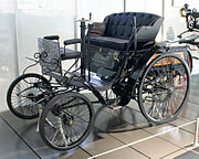"Karl Benz's ""Velo"" model (1894) - entered into an early automobile race"