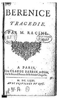 <i>Bérénice</i> five-act tragedy by the French 17th-century playwright Jean Racine