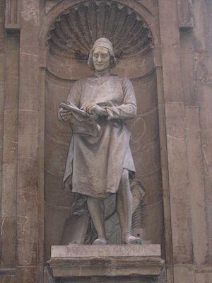 Bernardo Cennini - Nineteenth-century culture hero: Bernardo Cennini scans printing proofs in a niche overlooking the Mercato Nuovo, Florence.