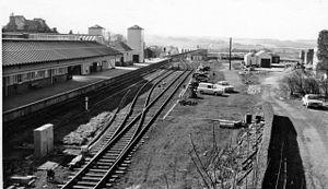 Berwick-upon-Tweed railway station - Berwick station in 1970
