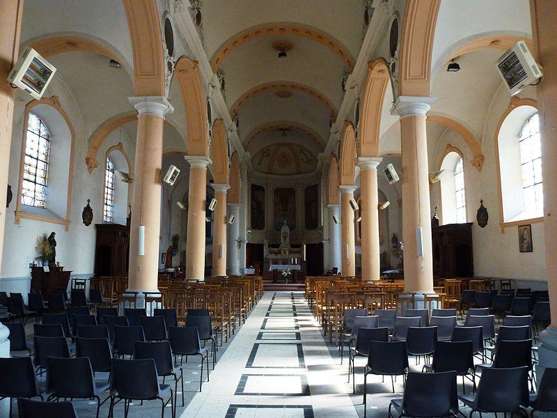 Beuvry-la-Forêt (Nord, Fr) église, intérieur
