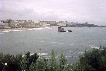 The coastline of Biarritz