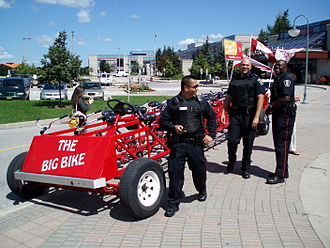 York Regional Police - York Regional Police at a Heart and Stroke Foundation of Canada fundraising event