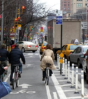 Cycling in New York City - Biking through Chelsea, Manhattan