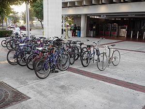 Brickell station - Image: Bikes at Brickell station