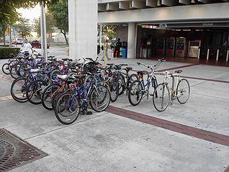 Brickell station - Image: Bikes at Brickell station